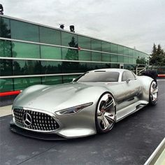 Up close with the Mercedes-AMG Vision Gran Turismo concept full size model that was created for GT6! Stunningly surreal to see a car designe...