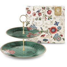 PiP Studio - 'Spring To Life' Collection - 2-Tier Cake Stand, Green