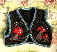 SALE hand knitted possum wool bolero 1-2yrs
