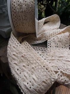 14.00 SALE PRICE! Add delicate texture to your home furnishings, party decorations, or wedding reception with this lovely lace trim. The Crocheted Cotton Lac...