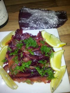 My very own beetroot cured gravalax