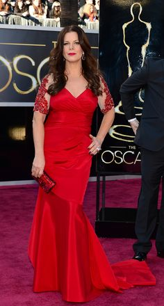 Marcia Gay Harden in a David Meister dress at the 2012 Academy Awards