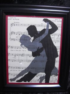 Whimiscal Silhouette of man and woman dancing on by ifoundthat, $15.00