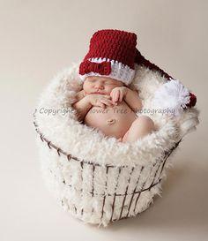 Newborn Santa Hat Christmas Elf Hat Newborn by VioletsPlayground, $26.00