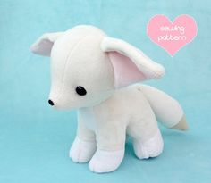 PDF sewing pattern  Baby Fennec Fox stuffed animal от TeacupLion