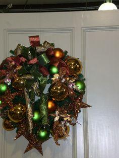 green - gold - copper wreath