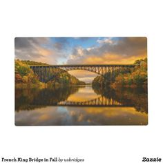 French King Bridge in Fall Placemat
