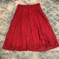 See You Monday Skirts | Red Skirt | Poshmark Red Skirts, Red Color, Tie Dye Skirt, Midi Skirt, Ootd, Things To Sell, Style, Fashion, Swag