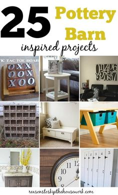 Gorgeous Pottery Barn Inspired DIY Projects that won't cost an arm and a leg to make! Love these ideas!