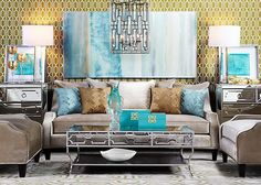 Calming Coastal Chic Living Room Inspired By Tranquil Spa