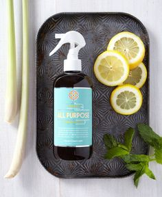 Clear your cabinets! All Purpose replaces 12+ different products under your kitchen sink.  HAVEN's clean-everything All Purpose formula leaves nothing behind but the fresh, invigorating scent of all natural lemon and mint. Our 12 OZ size is perfect for keeping at the office, in the playroom or anywhere else you need to have a little bottle handy.