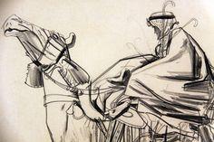 Arab on Camel (Air Conditioning Sol- Carrier), Robert Fawcett