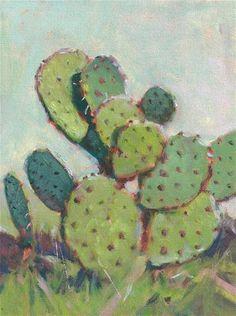"""""""Cactus"""" - Original Fine Art for Sale - © David Forks"""