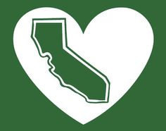 The Green State California Heart Decal - pinned by pin4etsy.com