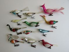 1920s - 1940s vintage bird ornaments