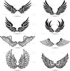 Wings Illustration stock vector art 17643431 - iStock