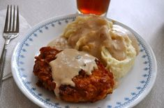 Crispy Breaded Pork Chops with Milk Gravy (and MeMe's Mashed Potatoes) from #SouthernPlate