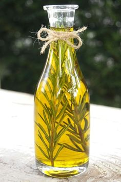 Olive Oil with Rosemary #homemade #herbs