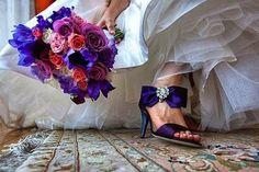 Scarpe da sposa viola