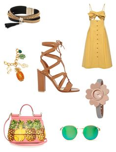 """""""lace up sandals"""" by bethanyyk on Polyvore featuring Gianvito Rossi, Sea, New York, Dolce&Gabbana, Simons, Wildfox and Michael Kors"""