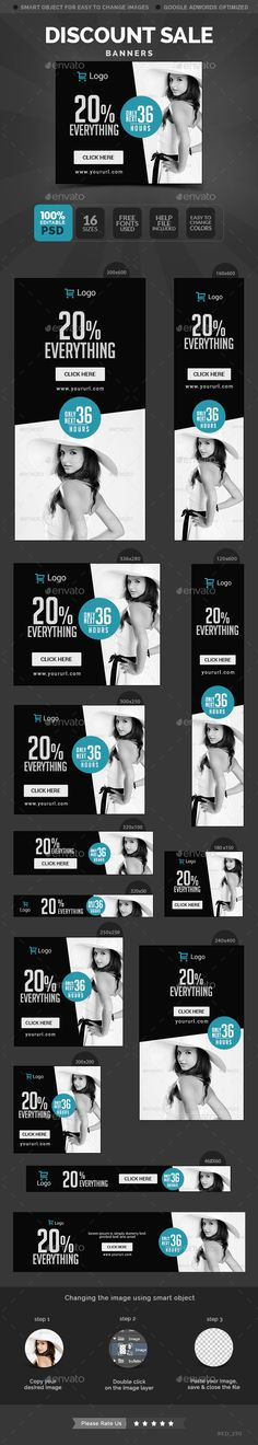 Sale Banners Template #design download: http://graphicriver.net/item/sale-banners/11672739?ref=ksioks