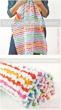 Ruffle Blanket Free Pattern.