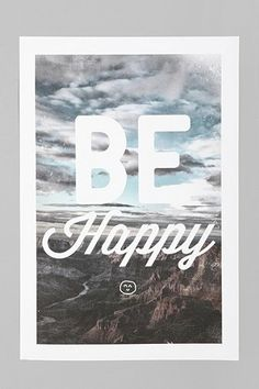 Zach Terrell Be Happy Art Print