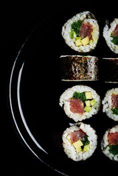 Editorial sushi photography for Četras Sezonas magazine. Lithuanian Recipes, Sushi Platter, Kimbap, Korean Street Food, Food Photography Tips, Taco, Exotic Food, Eating Raw, Food Design