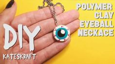 DIY VIDEO TUTORIAL | Easy Polymer Clay Eyeball Necklace - Perfect for Halloween!