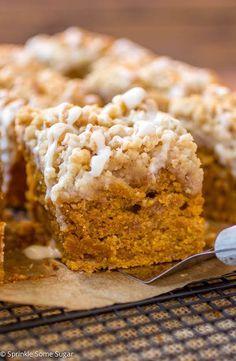 Pumpkin Coffee Cake. This coffee cake is the perfect Fall breakfast treat!