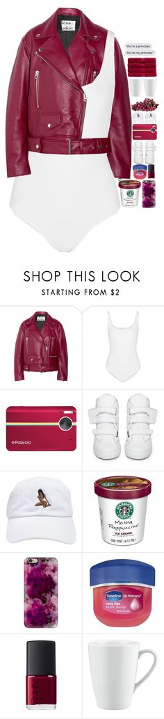 """""""5654"""" by tiffanyelinor ❤ liked on Polyvore featuring Acne Studios, Wolford, Polaroid, Raf Simons, Casetify, Vaseline, NARS Cosmetics, Pillivuyt and Christy"""