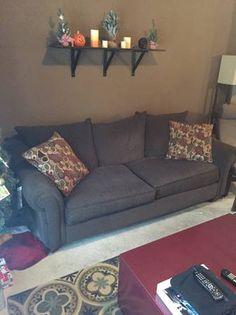 Elegant Full Size Dark Sofa