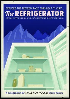 """The Fridge"" Travel Poster by CollegeHumor.com on The Bazaar"