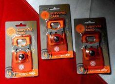 Survival Card 10 tools in one emergency prepare disaster equip UST bugoutbag Emergency Preparation, Emergency Kits, Disaster Kits, Survival Card, Plastic Case, Stainless Steel, Tools, Orange, Friends