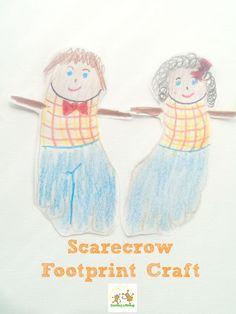 Fall Handprint and Footprint Crafts
