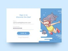 Discover the Sea designed by Lucija Frljak. Connect with them on Dribbble; the global community for designers and creative professionals. Form Design Web, Login Design, App Design, Design Graphique, Art Graphique, Web Layout, Layout Design, Sign Up Page, Ui Patterns