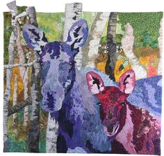 "Morning Visitors, 37 x 36"", by Barbara Yates Beasley 