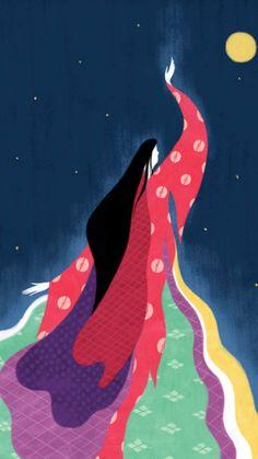 Princess Kaguya, Sweet Drawings, Art Optical, Love Painting, Art Journal Inspiration, Creative Art, Watercolor Art, Modern Art, Design Art