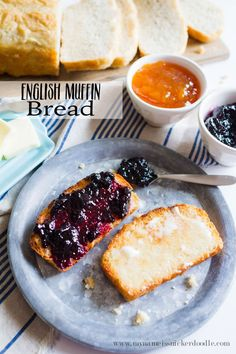 4 Points About Vintage And Standard Elizabethan Cooking Recipes! The Best And Easiest Bread Recipe It's Perfect For Toast With Lots Of Butter And Jam Find The Reicpe At Easy Bread Recipes, Banana Recipes, Muffin Recipes, Cooking Recipes, Eat Breakfast, Breakfast Recipes, Breakfast Items, English Muffin Bread, Biscuit Bread