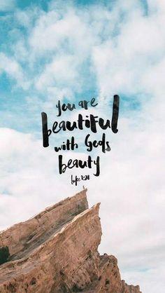 Você é linda com a beleza de Deus
