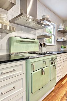 House of Turquoise: Kitchen....LOVE this stove                                                                                                                                                                                 More