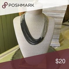 Manhattan necklace Can be worn long or doubled up like shown in picture for a shorter classy look! Hematite and imitation rhodium plated. Premier Designs Jewelry Necklaces