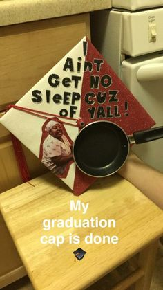 Funny college graduation Cap ideas I ain't get no sleep cause of y'all pan on grad cap - Funny Graduation Caps, Graduation Cap Designs, Graduation Cap Decoration, High School Graduation, Graduate School, College Graduation, Graduation Hats, Funny Grad Cap Ideas, Graduation Ideas