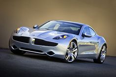 The Fisker Karma - in silver.  Saw one of these in L.A. at night passing me on Sunset ... awwwwesome!