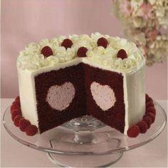 Wilton Heart Tasty-Fill Pan Set - Bake and Valentines Day Food, Valentine Love, Dessert Simple, Mousse, Easy Desserts, Dessert Recipes, Wilton Cake Decorating, Velvet Cake, Fancy Cakes