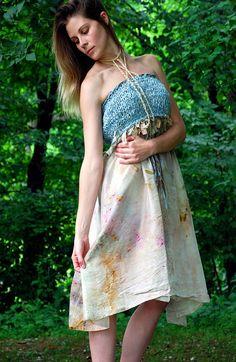 weathered wonderland wearable art baby doll dress by EarthenPurl, $139.00