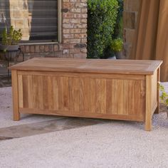 Wildon Home ® Bridgewater Teak Storage Box. Outdoor ...