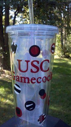 University of South Carolina Gamecocks Tumbler by girlygridiron, $11.00