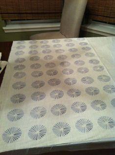 My Many Moments: Potato Block Printing DIY