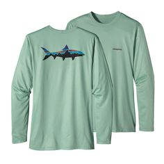 The Patagonia Men's Graphic Technical Fish Tee illustrates bold, fish-centric graphics show the world where your interests lie, no matter where you are.